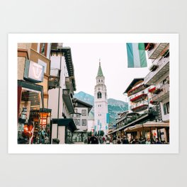 Time Stands Still | Cortina d'Ampezzo, Italy Art Print