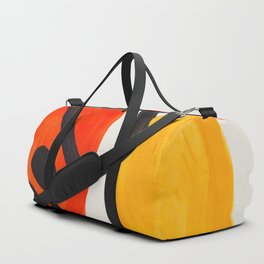 Colorful Mid Century Modern Abstract Fun Shapes Patterns Space Age Orange Yellow Orbit Bubbles Duffle Bag