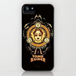 Tomb Raider I - Wheel of Adventure iPhone Case