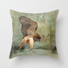 Feathered Fury Above Throw Pillow