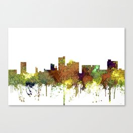 Lubbock, Texas Skyline - Safari Buff Canvas Print