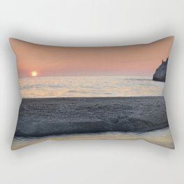 Last Minute At The Beach. At Sunset Rectangular Pillow