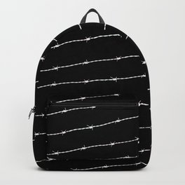 Cool black and white barbed wire pattern Backpack
