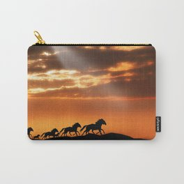 Horses in sunset Carry-All Pouch