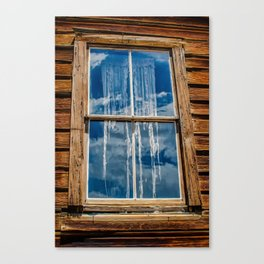 Bodie Ghostly Window Canvas Print
