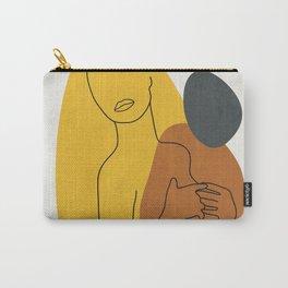 Minimal Line Art Woman Figure II Carry-All Pouch