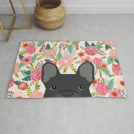 French Bulldog floral dog head cute pet gifts dog breed frenchies Rug
