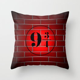 peron brick wall Throw Pillow