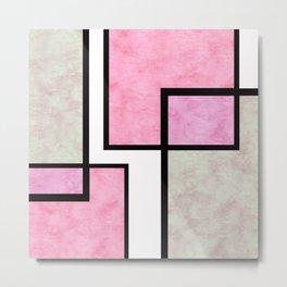 Pink Tiles Metal Print