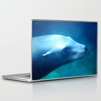 seal Laptop & iPad Skins featuring seal by Bunny Noir