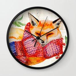 Winter animal #3 Wall Clock