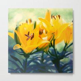 Summer Lilies II Metal Print