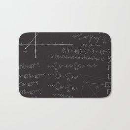Mathematical seamless pattern Bath Mat
