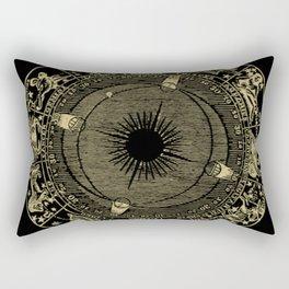 Zodiac Circle Rectangular Pillow
