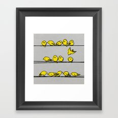 Hanging Out (Yellow Option) Framed Art Print