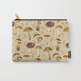 Wild Forest Mushroom Pattern Carry-All Pouch