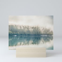 Foggy forest watercolor painting #3 Mini Art Print