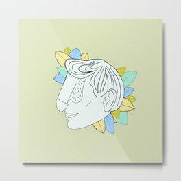 Dickface V Metal Print
