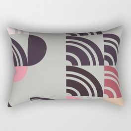Hedgehog abstract geometric pattern with colorful shapes 211 Rectangular Pillow