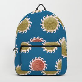 Golden Sun over water abstract Backpack
