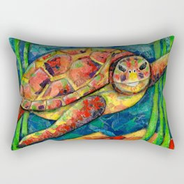 Bright Sea Turtle Rectangular Pillow
