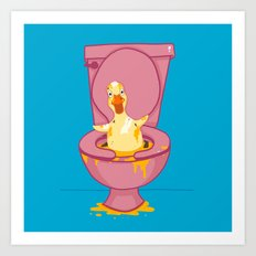 Toilet Duckling Art Print
