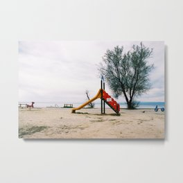 GRAND RESORT SERIES. Playground, Piran, Mediterranean Sea, Color Film Photo Metal Print