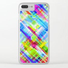 Colorful digital art splashing G468 Clear iPhone Case