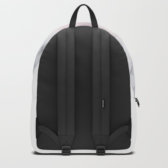 BLUSH MARBLE GRAY SCANDINAVIAN GEOMETRIC Backpack