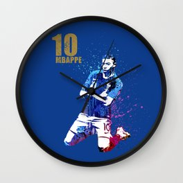 WORLD CUP 2018 #FRANCE #Mbappe Wall Clock