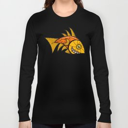 Escher Fish Pattern VI Long Sleeve T-shirt