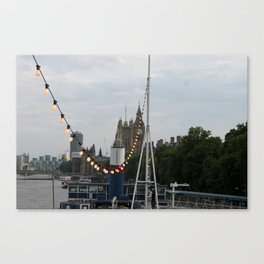 Lights on the Thames Canvas Print