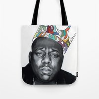 notorious big Tote Bags featuring Notorious by Jared Yamahata