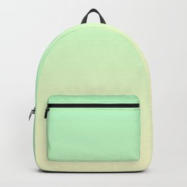 Mint Green to Cream Yellow Linear Gradient Backpack