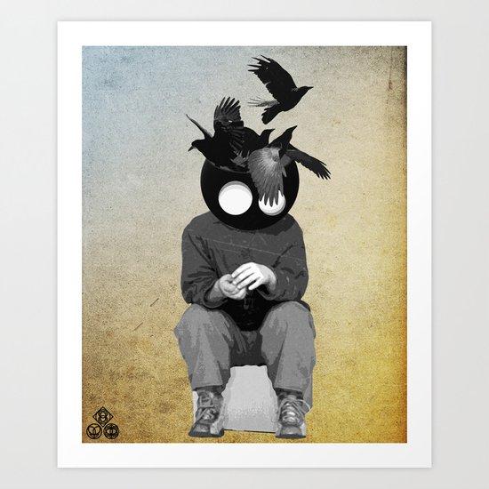 sitting, waiting, wishing Art Print