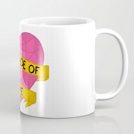 I am made of love crystal heart Coffee Mug