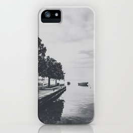 Boats on the lake iPhone Case