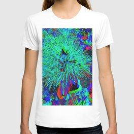 """Kiwi Lifestyle"" - Pohutukawa NZ Blue Bloom- Pop ART T-shirt"