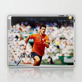 Novak Djokovic Tennis Chasing a Lob Laptop & iPad Skin
