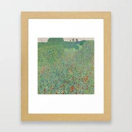 Gustav Klimt, Blooming Poppy, 1907 Framed Art Print