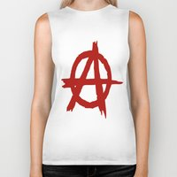 anarchy Biker Tanks featuring Anarchy by ArtSchool