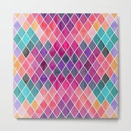Watercolor Geometric Pattern Metal Print