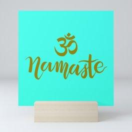 Namaste AUM - AquaGold Mini Art Print