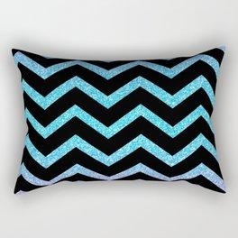 Black Chevron On Glitter Gradient Rectangular Pillow