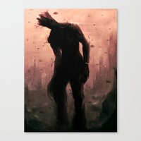 groot Canvas Prints featuring Groot by Varsha Vijayan