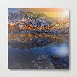 Vibrant Landscape Sunset Metal Print