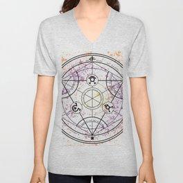Transmutation Circle Fullmetal Alchemist Unisex V-Neck