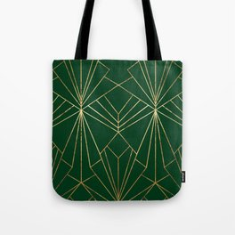Art Deco in Gold & Green - Large Scale Tote Bag