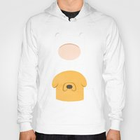 finn and jake Hoodies featuring Finn and Jake by Raquel Segal