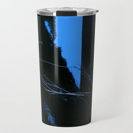 Bridge Support Meets Water With Blue Tinge Travel Mug